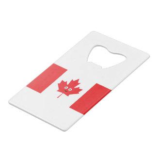 Abrebotellas De Tarjeta De Crédito Cara canadiense de la hoja de arce