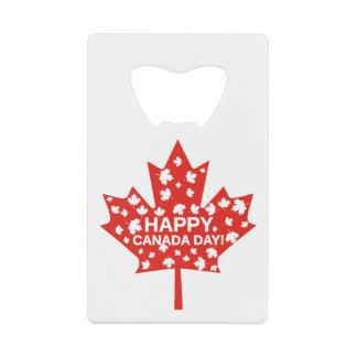 Abrebotellas De Tarjeta De Crédito Celebración del día de Canadá