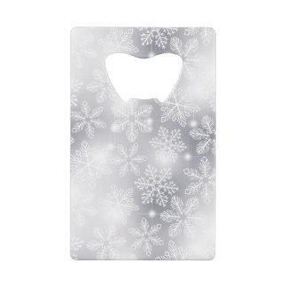 Abrebotellas De Tarjeta De Crédito Copos de nieve y luces