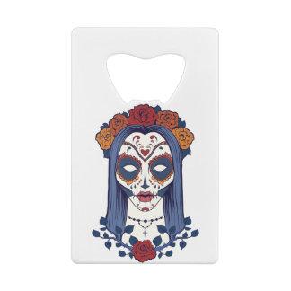 Abrebotellas De Tarjeta De Crédito Día de la mujer de los muertos