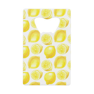 Abrebotellas De Tarjeta De Crédito Diseño del modelo de los limones