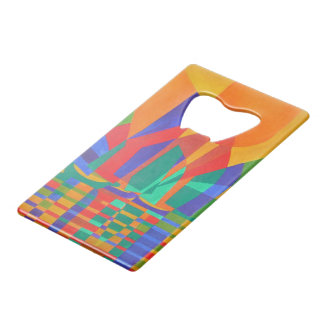 Abrebotellas De Tarjeta De Crédito Dreamboat - desperdicios cubistas en colores