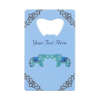 Abrebotellas De Tarjeta De Crédito Elefante de la alheña (azul/azul claro)