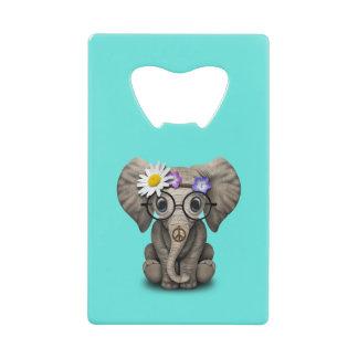 Abrebotellas De Tarjeta De Crédito Hippie lindo del elefante del bebé