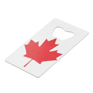 Abrebotellas De Tarjeta De Crédito Hoja de arce canadiense