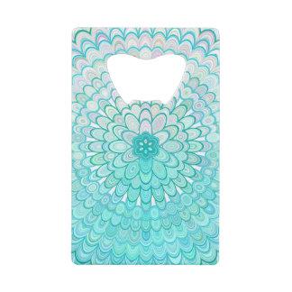 Abrebotellas De Tarjeta De Crédito Mandala de la flor del hielo