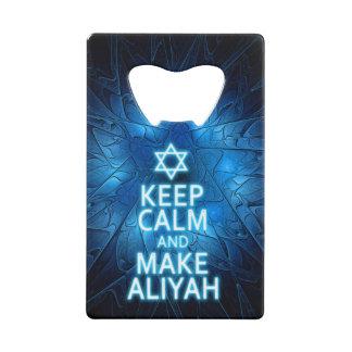 Abrebotellas De Tarjeta De Crédito Mantenga tranquilo y haga Aliyah