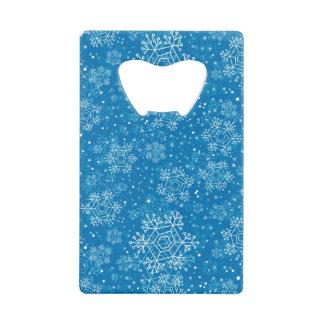 Abrebotellas De Tarjeta De Crédito Modelo del copo de nieve