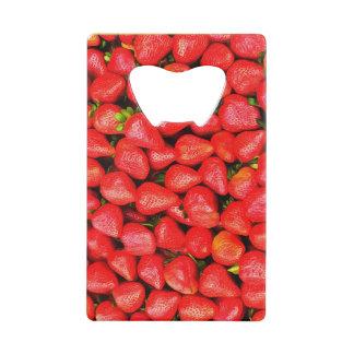 Abrebotellas De Tarjeta De Crédito ¡Muchas fresas!