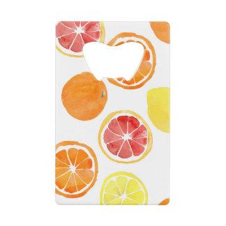 Abrebotellas De Tarjeta De Crédito Naranjas y abrelatas de la tarjeta de crédito del