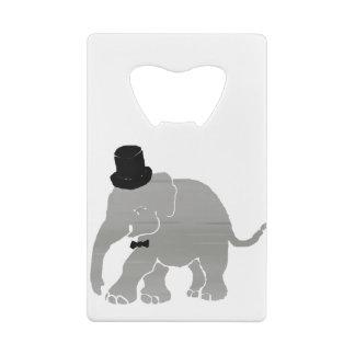 Abrebotellas De Tarjeta De Crédito Novio hermoso del elefante del vintage con el