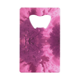 Abrebotellas De Tarjeta De Crédito Nube rosácea del infrarrojo de las tonalidades