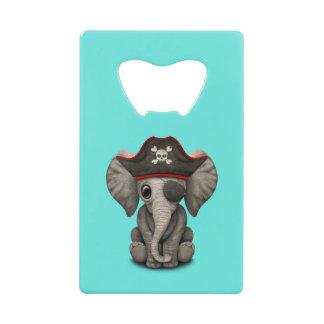 Abrebotellas De Tarjeta De Crédito Pirata lindo del elefante del bebé