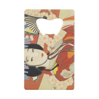 Abrebotellas De Tarjeta De Crédito Poster Osaka Japón del viaje del vintage