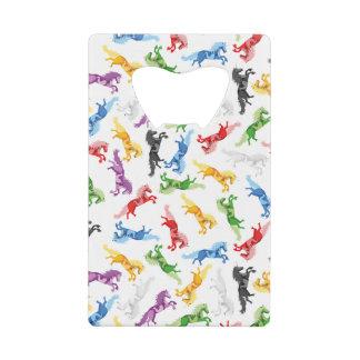Abrebotellas De Tarjeta De Crédito Unicornio coloreado del modelo