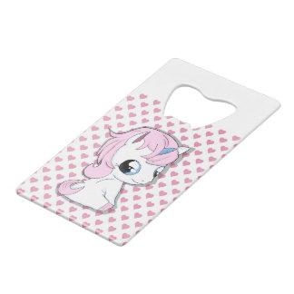 Abrebotellas De Tarjeta De Crédito Unicornio del bebé