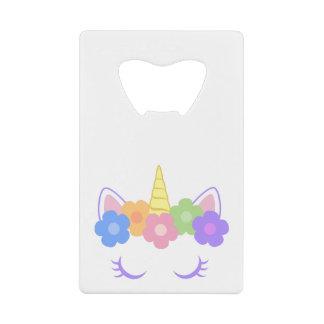 Abrebotellas De Tarjeta De Crédito Unicornio elegante