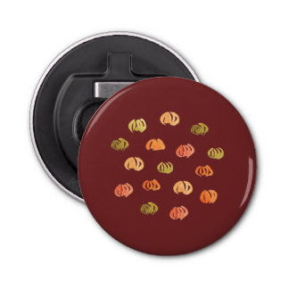Abrebotellas del botón de la calabaza