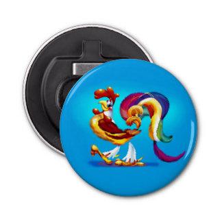 Abrebotellas del dibujo animado del gallo