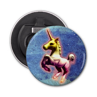 Abrebotellas del unicornio magnético (reflejo de