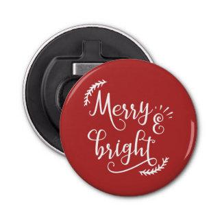 Abrebotellas día de fiesta feliz y brillante del navidad