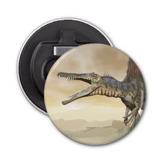 Abrebotellas Dinosaurio de Spinosaurus en el desierto - 3D