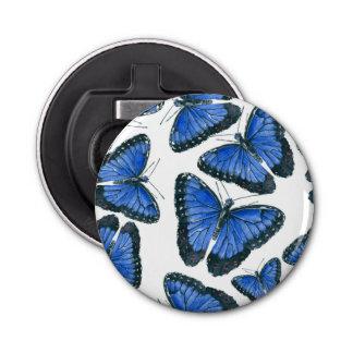 Abrebotellas Diseño azul del modelo de mariposa del morpho