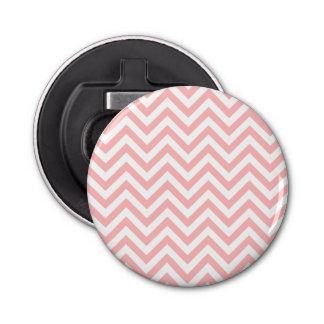 Abrebotellas El zigzag rosado y blanco raya el modelo de