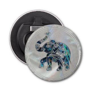 Abrebotellas Elefante enmarcado plata en el olmo y la perla
