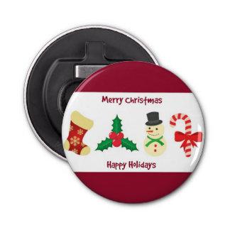 Abrebotellas Felices Navidad rojas y blancas y buenas fiestas