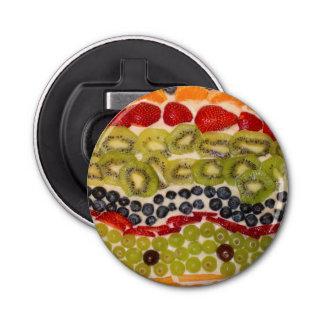 Abrebotellas Foto del primer de la pizza de la fruta