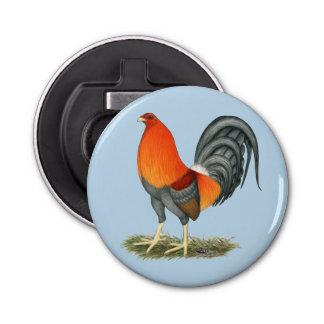 Abrebotellas Gallo del rojo azul del gallo de pelea