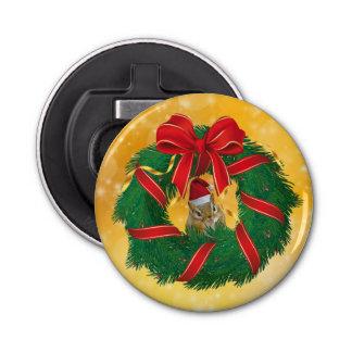 Abrebotellas Guirnalda linda del navidad del Chipmunk