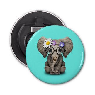 Abrebotellas Hippie lindo del elefante del bebé