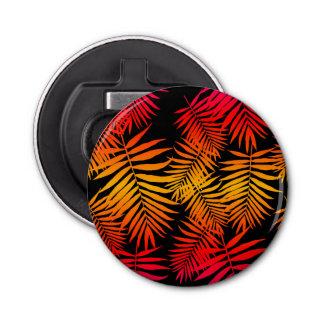 Abrebotellas Hoja tropical de la palmera de la decoración de