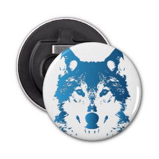 Abrebotellas Lobo de los azules claros del ilustracion