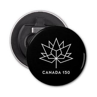 Abrebotellas Logotipo del funcionario de Canadá 150 - blanco y