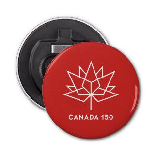Abrebotellas Logotipo del funcionario de Canadá 150 - rojo y