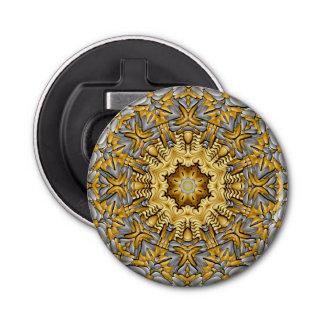Abrebotellas magnético del caleidoscopio del metal abrebotellas redondo