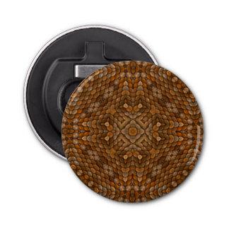 Abrebotellas magnético del caleidoscopio rústico abrebotellas redondo