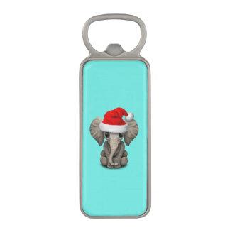 Abrebotellas Magnético Elefante del bebé que lleva un gorra de Santa
