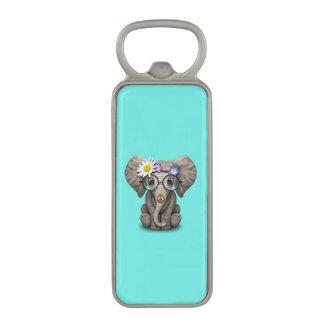 Abrebotellas Magnético Hippie lindo del elefante del bebé