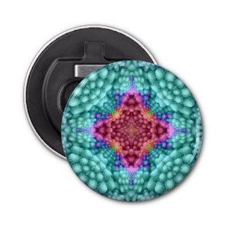 Abrebotellas magnéticos del caleidoscopio abrebotellas redondo