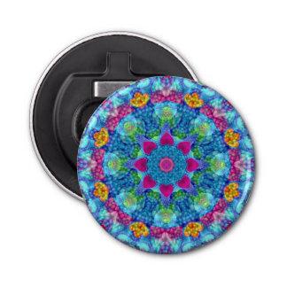 Abrebotellas magnéticos del caleidoscopio de los abrebotellas redondo