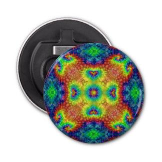 Abrebotellas magnéticos del caleidoscopio   del abrebotellas redondo