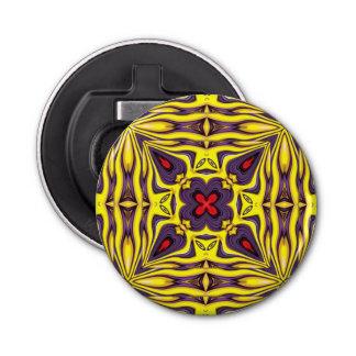 Abrebotellas magnéticos    del caleidoscopio real abrebotellas redondo