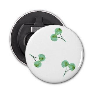 Abrebotellas Modelo verde de la cereza