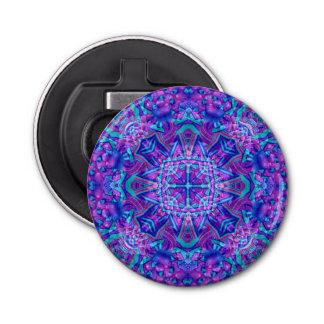 Abrebotellas púrpuras y azules del caleidoscopio