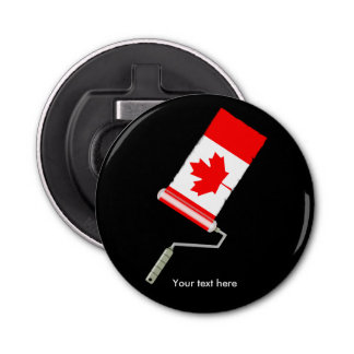 Abrebotellas Rodillo de pintura canadiense de la bandera