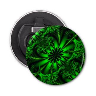 Abrebotellas Selva verde abstracta del fractal